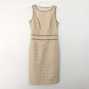Banana Republic Sheath Dress Cream Gold Shimmer